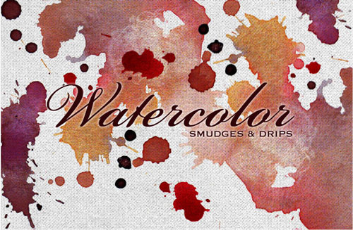 Free vector watercolor paint smudges 1