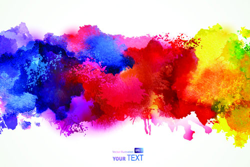 Free watercolor vector paint smudges 4