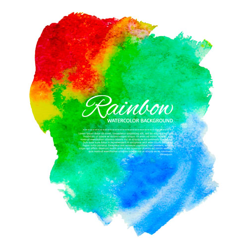 Free watercolor vector paint smudges 6