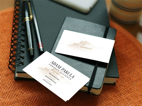 Free PSD business card design mockup template 1