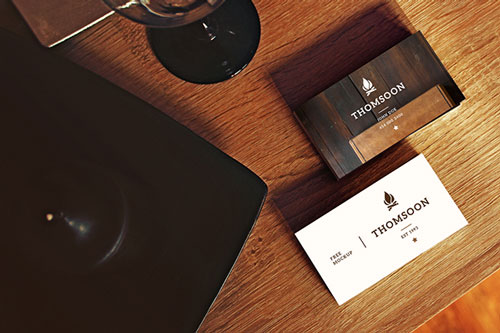 Free PSD business card design mockup template 10