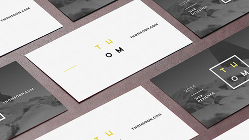 Free PSD business card design mockup template 11