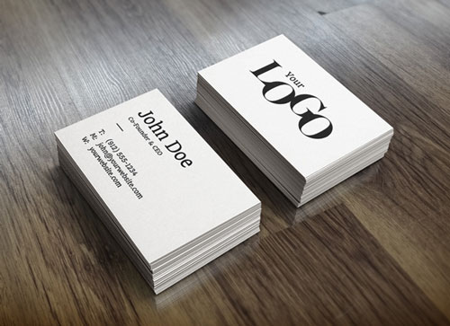 Free PSD business card design mockup template 16