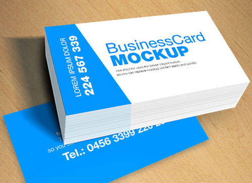 Free PSD business card design mockup template 17