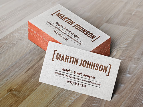 Free PSD business card design mockup template 3