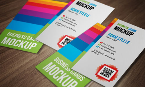 Free PSD business card design mockup template 5