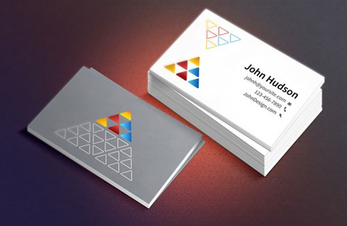 Free PSD business card design mockup template 6