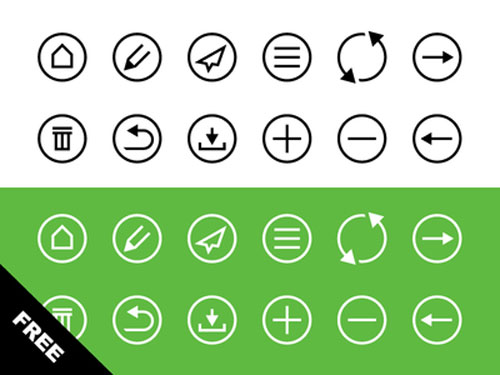 Free minimalist icon set 10