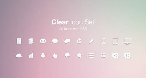 Free minimalist icon set 13