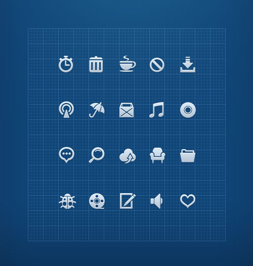 Free minimalist icon set 14