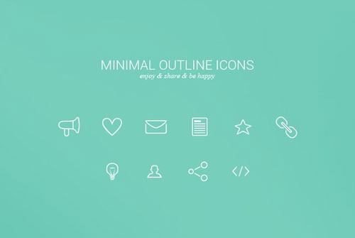 Free minimalist icon set 16