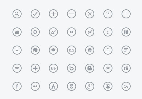 Free minimalist icon set 2