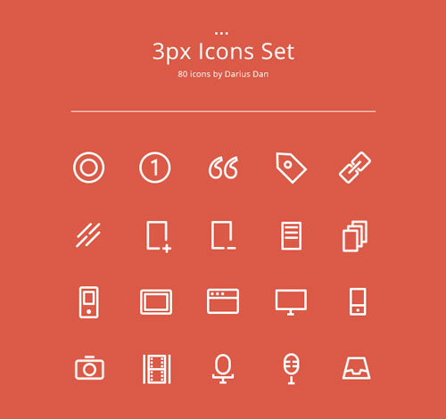 Free minimalist icon set 20