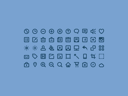 Free minimalist icon set 5