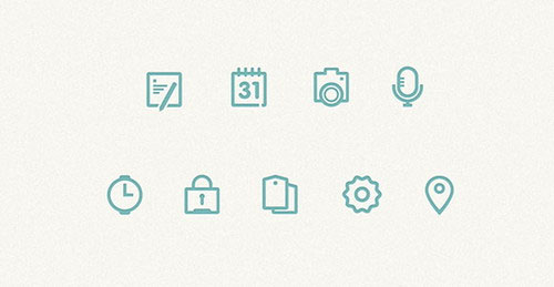 Free minimalist icon set 6