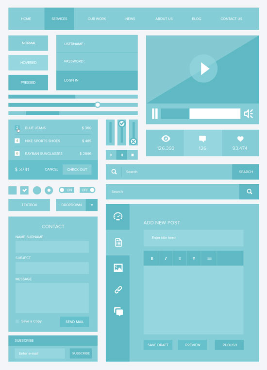 Free minimalist UI design kit 5