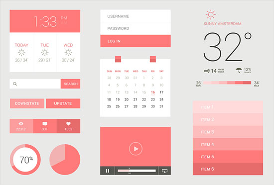 Free minimalist UI design kit 6