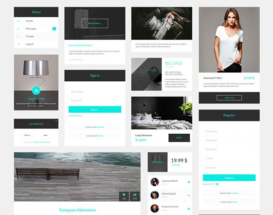 Free minimalist UI design kit 11
