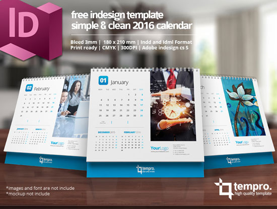 Assorted Free 2016 Calendar Design Templates | Designfreebies