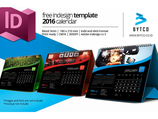 Assorted Free 2016 Calendar Design Templates Designfreebies