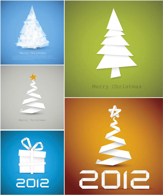 Christmas tree backgrounds vector