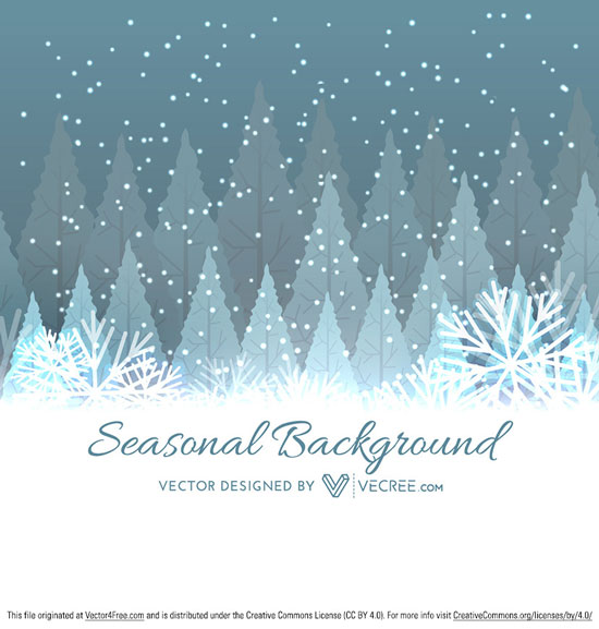 Free Winter Tree Christmas Background