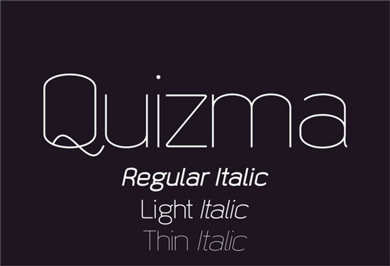 Free thin fonts - Quizma
