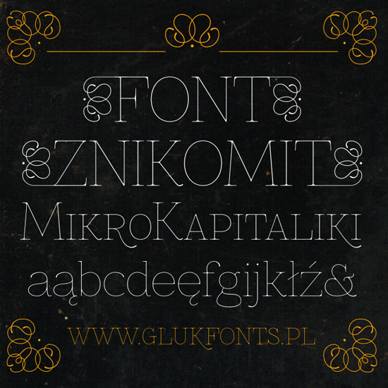 Free thin fonts - Znikomit