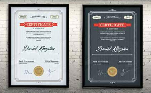 10 sets of free certificate design templates designfreebies free psd and vector certificate template yelopaper Gallery