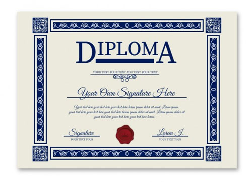 Free vector diploma template