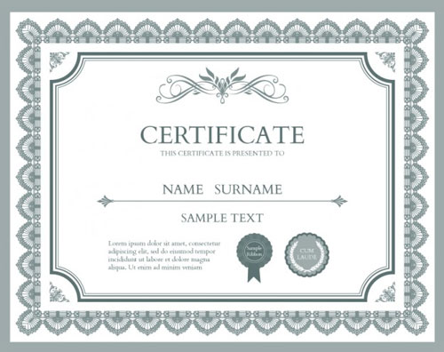 10 Sets of Free Certificate Design Templates – Training Certificates Templates Free Download
