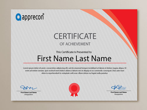 cool certificate design