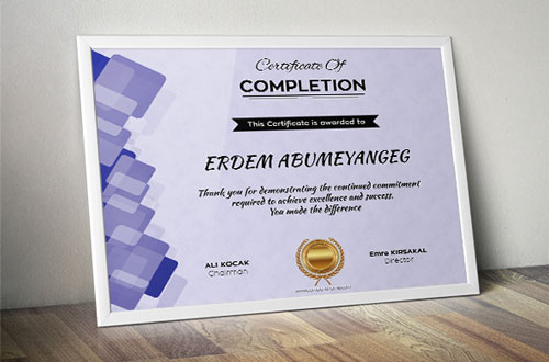 Free PSD and EPS certificate template