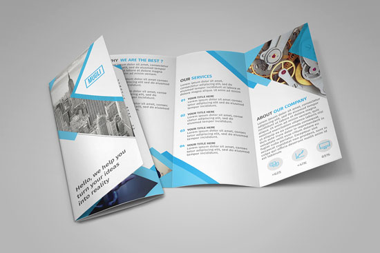 brochure design tools - free soft and clean square indesign brochure template