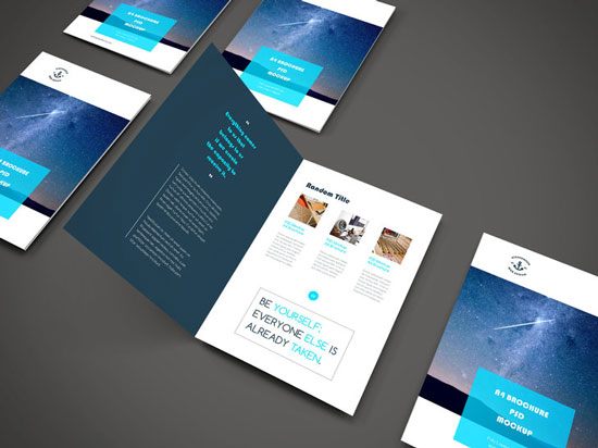 free photoshop psd brochure template 9
