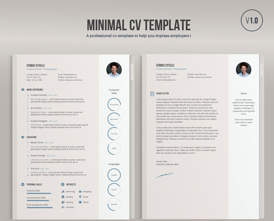 Free Cv Resume Templates In Word Format 10  Minimalist Resume Template