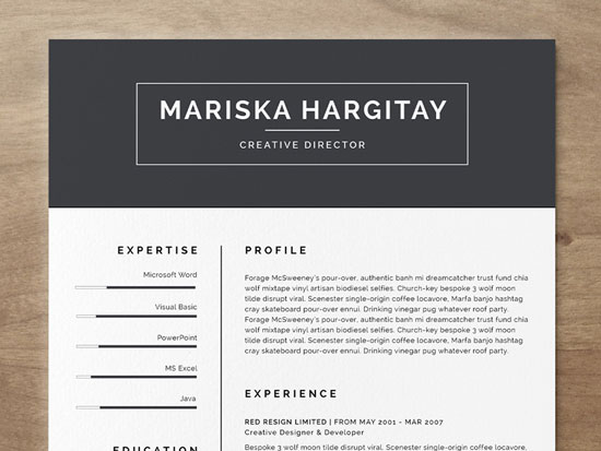 Free cv resume templates in word format 3