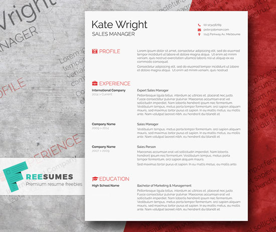 12 Free And Impressive CV Resume Templates In MS Word Format Designfreebies