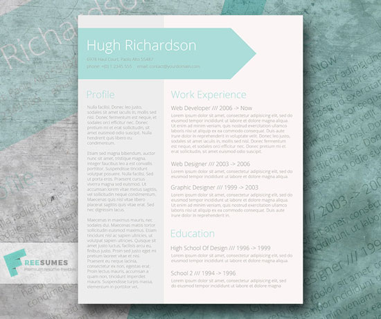 Free cv resume templates in word format 8