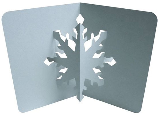 3D pop-up snowflake Christmas card
