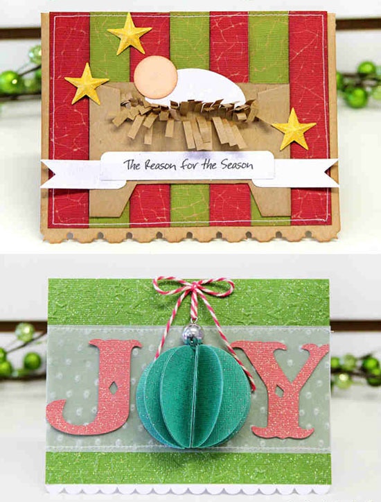 Traditional and modern 3D Christmas cards