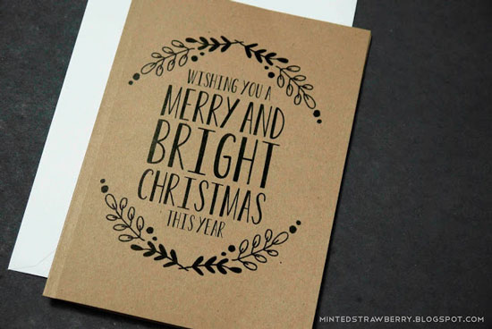 Free printable floral Christmas card
