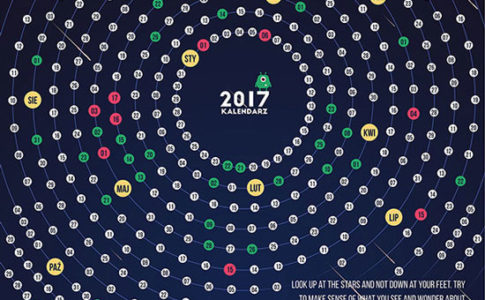 2017 calendar design ideas