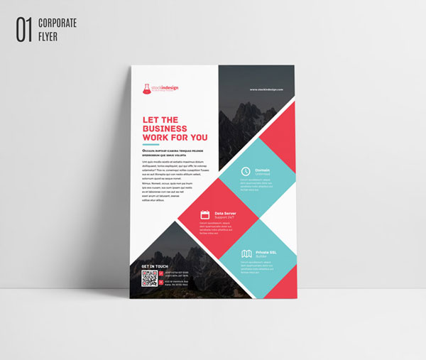 Free Indesign Template Corporate Flyer Brochure Designfreebies