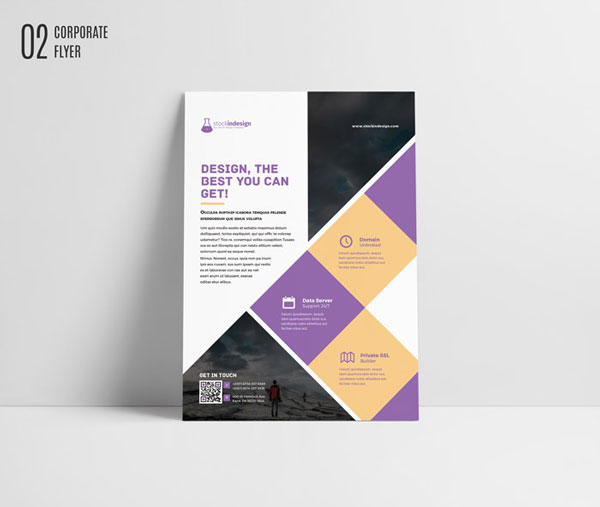 free indesign template  corporate flyer brochure