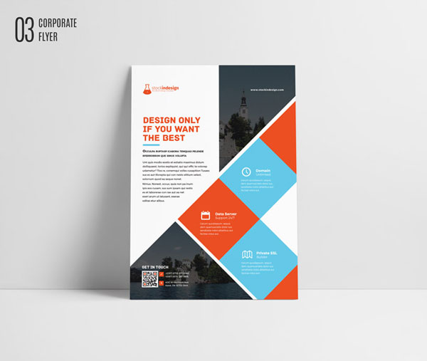 Free Indesign Flyer Templates: Free InDesign Template: Corporate Flyer Brochure