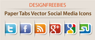 Free Exclusive Paper Tabs Vector Social Media Icons