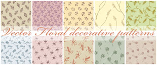 Free Vector Decorative Ornamental Floral Patterns