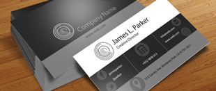 Free PSD Templates: Sleek Black and White Business Cards