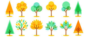 150+ Collection of Beautiful Vector Trees for Your Designs
